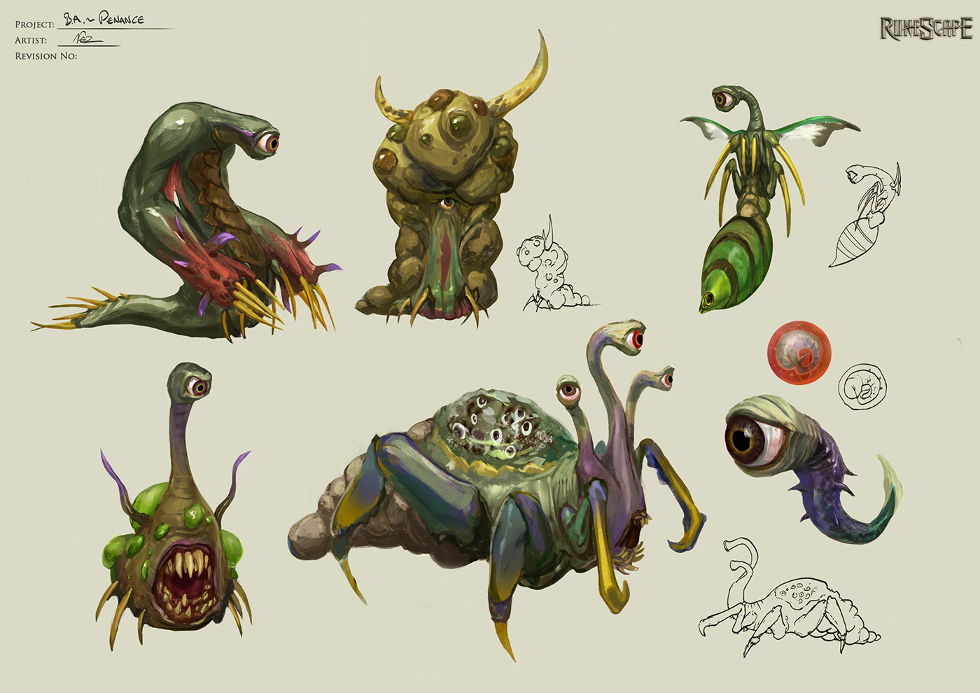 Penance creature concept art