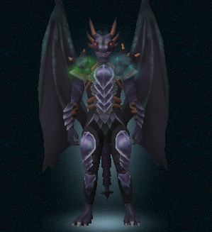 Attuned King Black Dragon Outfit